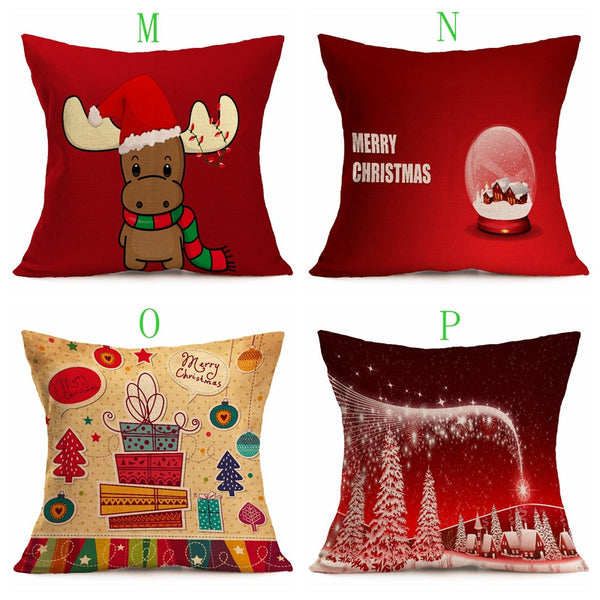 Custom Christmas supplies festive patterns car cushions pillow pillow pillow pillow