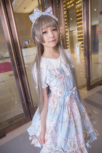 Yurisa Harajuku Long Straight Hair Lolita Grey Cosplay Wig
