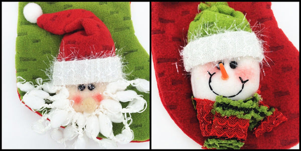 Set Of 6 Christmas Santa Claus Socks Xmas Stockings