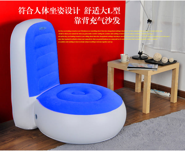Lazy Recliner L Shape Inflatable Sofa Living Room Furniture