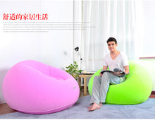 Load image into Gallery viewer, Lazy Recliner Flocking Inflatable Sofa Living Room Furniture