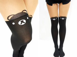Kawaii Bear Thigh High Tights