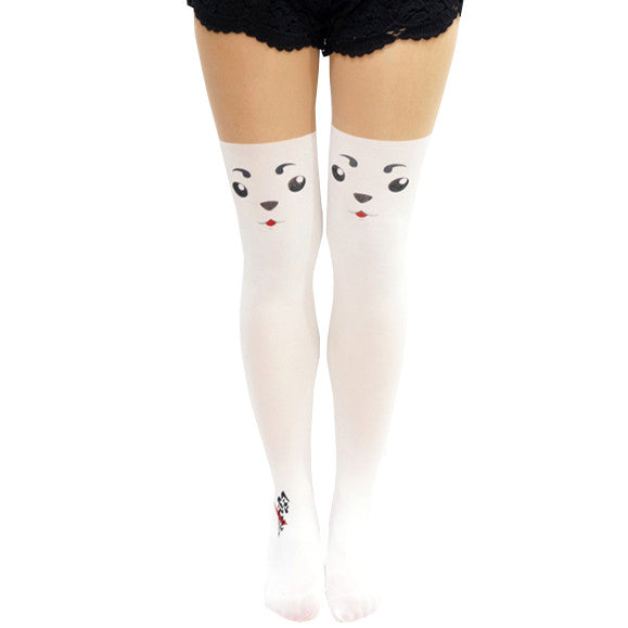 Comic Anime Gintama Sadaharu Dog Thigh High Tights