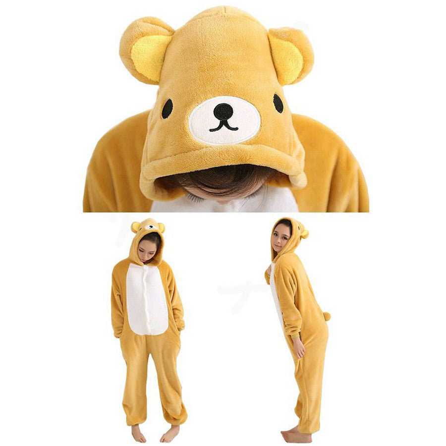Rilakkuma Cartoon Pajamas Halloween Costume Cosplay Homewear Lounge Wear