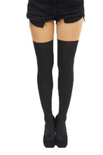 Load image into Gallery viewer, Basic Fake Thigh High Tights