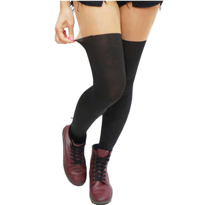 Basic Fake Thigh High Tights