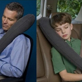 The Ultimate Inflatable Travel Pillow Best Travel Pillow for Airplanes, Cars, Buses, Trains, Office Napping, Camping, Wheelchairs & Home