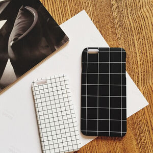 For iPhone 5s/6/6plus Checked Frosted Cases