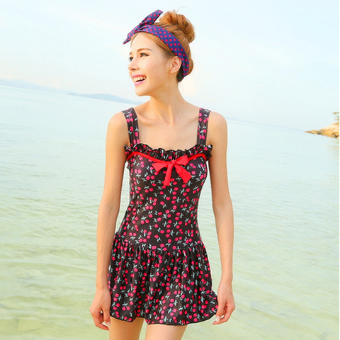 Sweet cherries Print Women Swimsuit