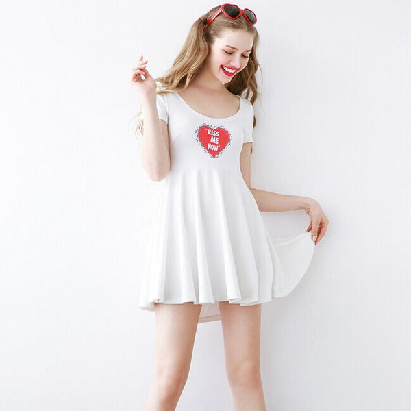 KISS ME NOW Heart Crossed Backless Dress