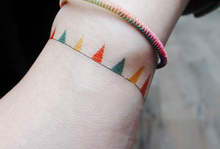 Load image into Gallery viewer, Party Color Flags Bracelet Temporary Tattoos