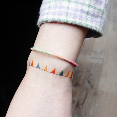 Party Color Flags Bracelet Temporary Tattoos