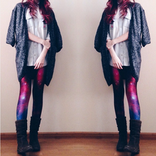 Load image into Gallery viewer, Galaxy Purple Leggings