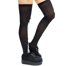 Load image into Gallery viewer, Halloween Gothic Skeleton Over knee Socks