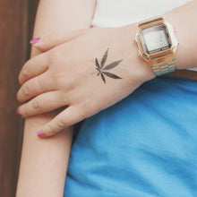 Load image into Gallery viewer, Love & Freedom Leaf Temporary Tattoo