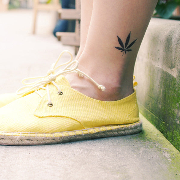 Love & Freedom Leaf Temporary Tattoo