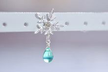 Load image into Gallery viewer, Frozen Snowflake Waterdrop Beads Earrings