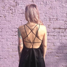 Load image into Gallery viewer, Stylish Backless Back Star Dress