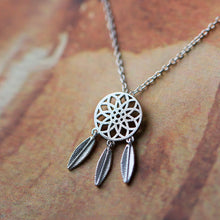 Load image into Gallery viewer, Dream Catcher 925 Silver Pendant Necklace