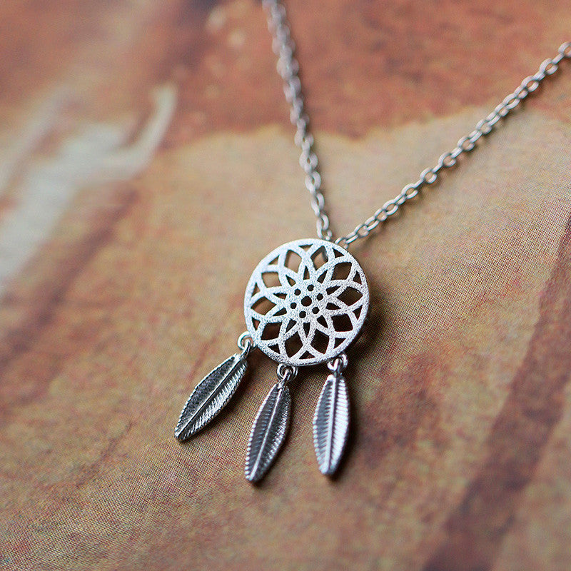 Dream Catcher 925 Silver Pendant Necklace