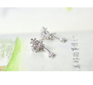 925 Silver Flower Stud Earrings