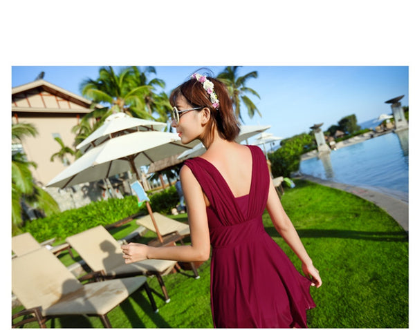 Fashion Slim Two-way Wear Padded Swimwear Dress