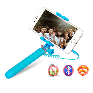 Mini Selfie Stick Battery Free No Bluetooth Portable Foldable for Gopro For iPhone