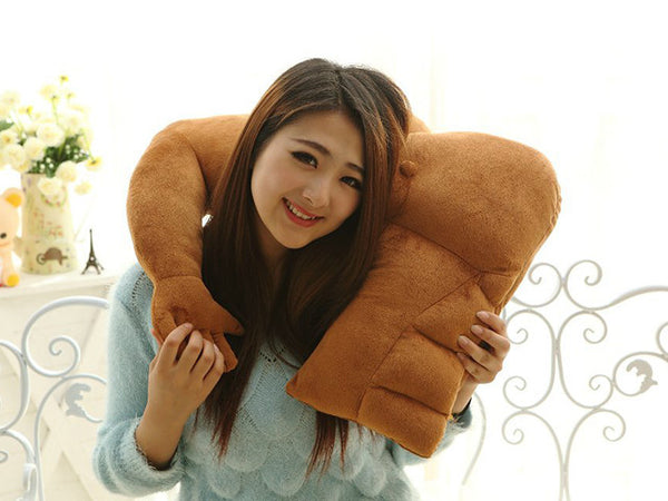 Boyfriend Muscle Man Body Arm Plush Cotton Pillow Creative Bolster Gift 58*48cm