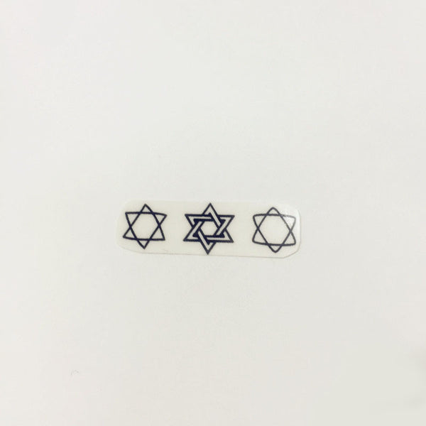 Waterproof Temporary Tattoo Paste Hexagram(set of 3)