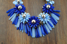 Load image into Gallery viewer, Flowers Tassels Choker Necklace