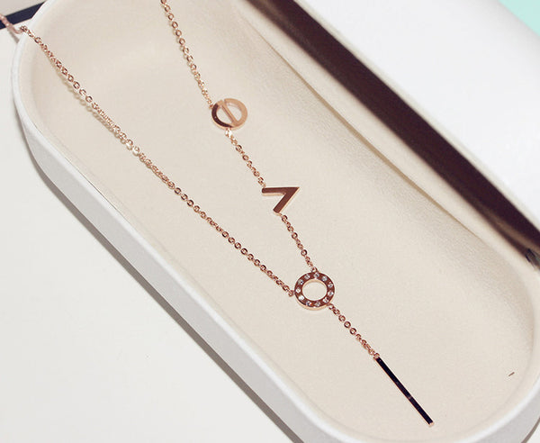 Unique LOVE Letters Necklace