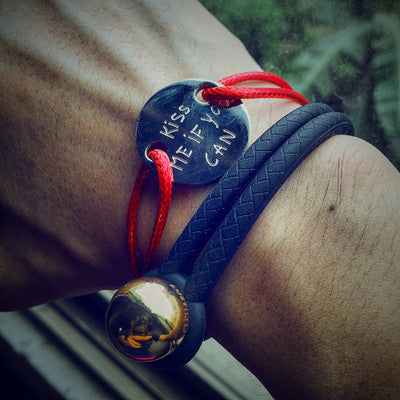 Kiss me if you can Handmade Couple Bracelet