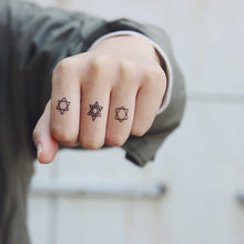 Load image into Gallery viewer, Waterproof Temporary Tattoo Paste Hexagram(set of 3)