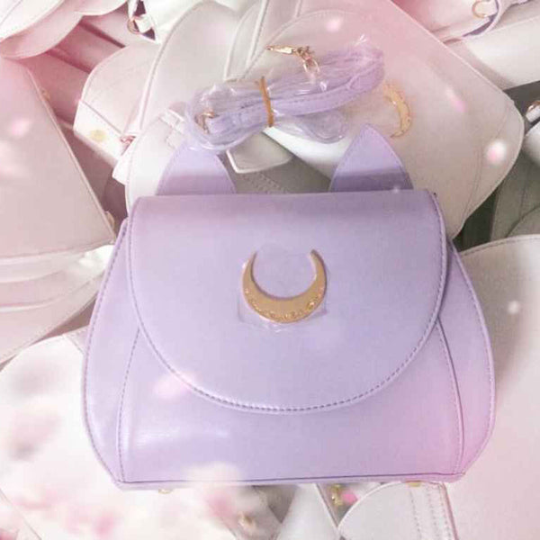 Cute Sailor Moon Luna Cat Shoulder Bag