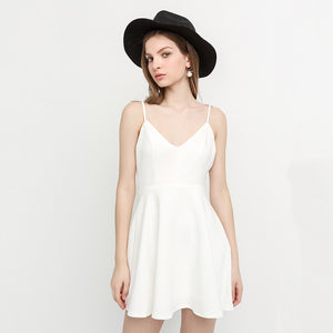 Beach Angel Wings Suspender A-line Dress