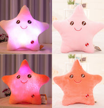 Load image into Gallery viewer, 40*40cm Stuffed Dolls LED Stars Light Colorful Pillows Popular Plush Toys for Kids