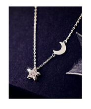 Load image into Gallery viewer, Simple Moon Star Necklace
