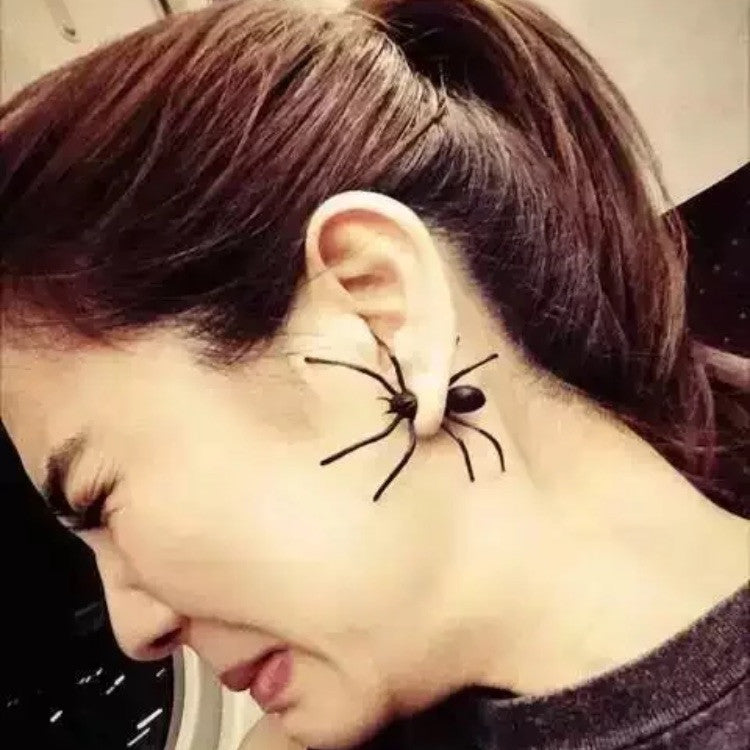 Punk Style Geek Spider Two-part Earrings Halloween Earrings