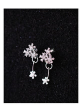 Load image into Gallery viewer, 925 Silver Flower Stud Earrings