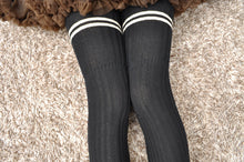 Load image into Gallery viewer, Preppy Striped Thigh Highs Tight