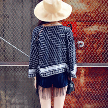 Load image into Gallery viewer, Ethnic Chiffon Tassels Cardigan