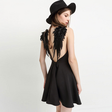 Load image into Gallery viewer, Beach Angel Wings Suspender A-line Dress
