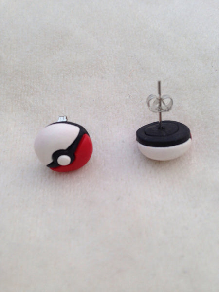 Handmade Pokemon Sprite Balls Earrings