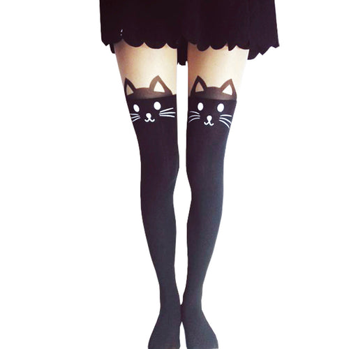 Cats Tails Thigh High Tights