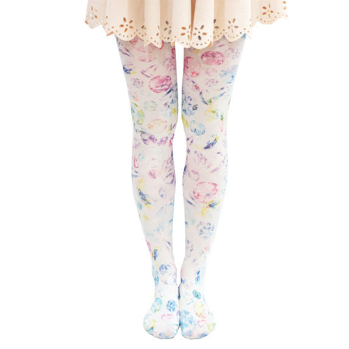 Harajuku Diamond Print Tights