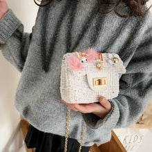 Load image into Gallery viewer, Fashion Plush chain one shoulder small bag children Princess Girl Backpack