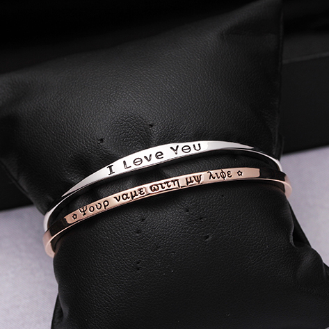 Romantic Letters Adjustable Bracelet