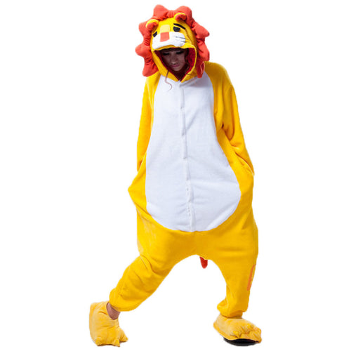 Lion Pajamas Halloween Costume Cosplay Homewear Lounge Wear