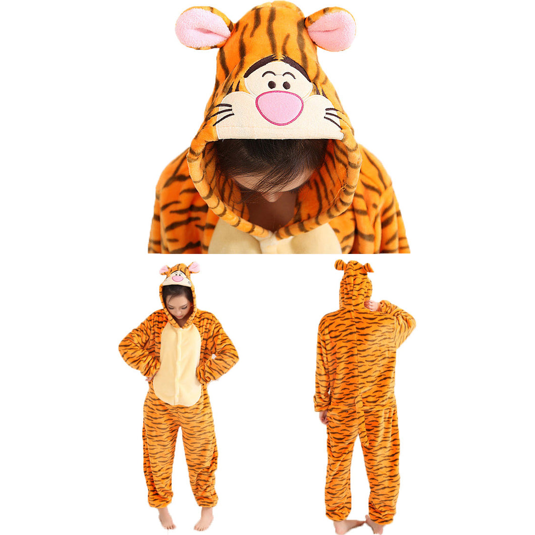 Tiger Cartoon Pajamas Halloween Costume Cosplay Homewear Lounge Wear