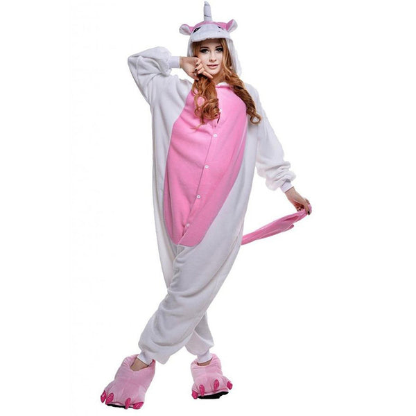 Pink Unicorn Pajamas Halloween Costume Cosplay Homewear Lounge Wear